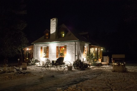 The Bunn House at night